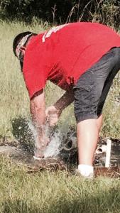 Burst water line